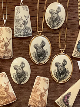 Scrimshaw Images- Reproduction Jewelry