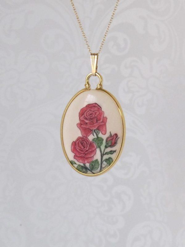 Scrimshaw roses